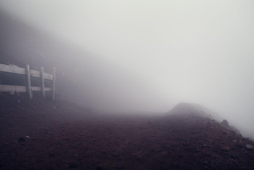 Le Mont Fuji et la brume