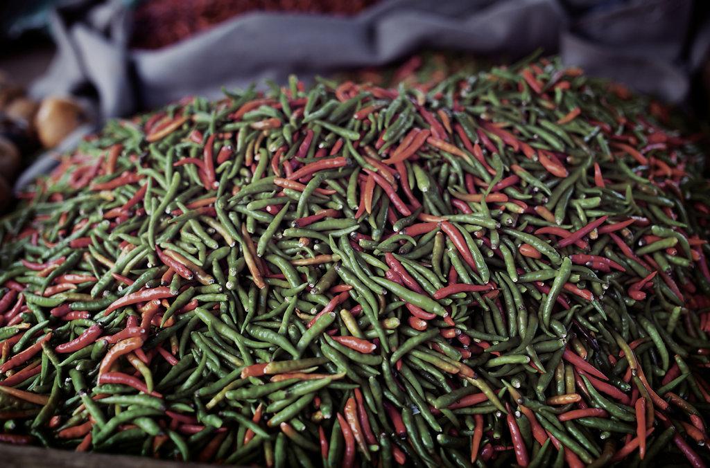 Les piments du marché - la Réunion